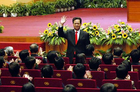 Thủ tướng Nguyễn Tấn Dũng tại buổi đối thoại với thanh niên. Ảnh: Chinhphu.vn