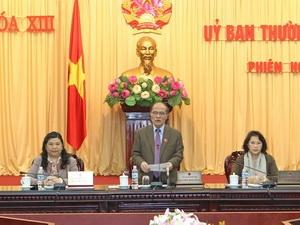 Chủ tịch Quốc hội Nguyễn Sinh Hùng phát biểu tại Phiên họp thứ 13, Ủy ban Thường vụ Quốc hội.